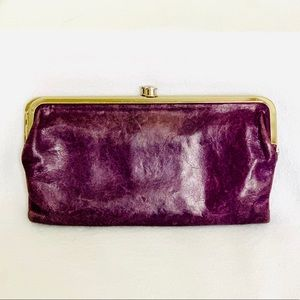 HOBO Lauren Leather Wallet Purple-Double Clutch